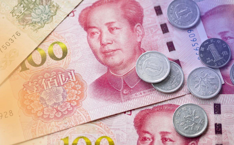 Close up of Mao Tse tung of China Yuan banknote. Yuan is the mai